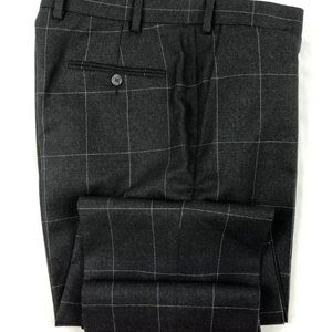 Suit Supply Charcoal NWOT Brescia Checked 34x28